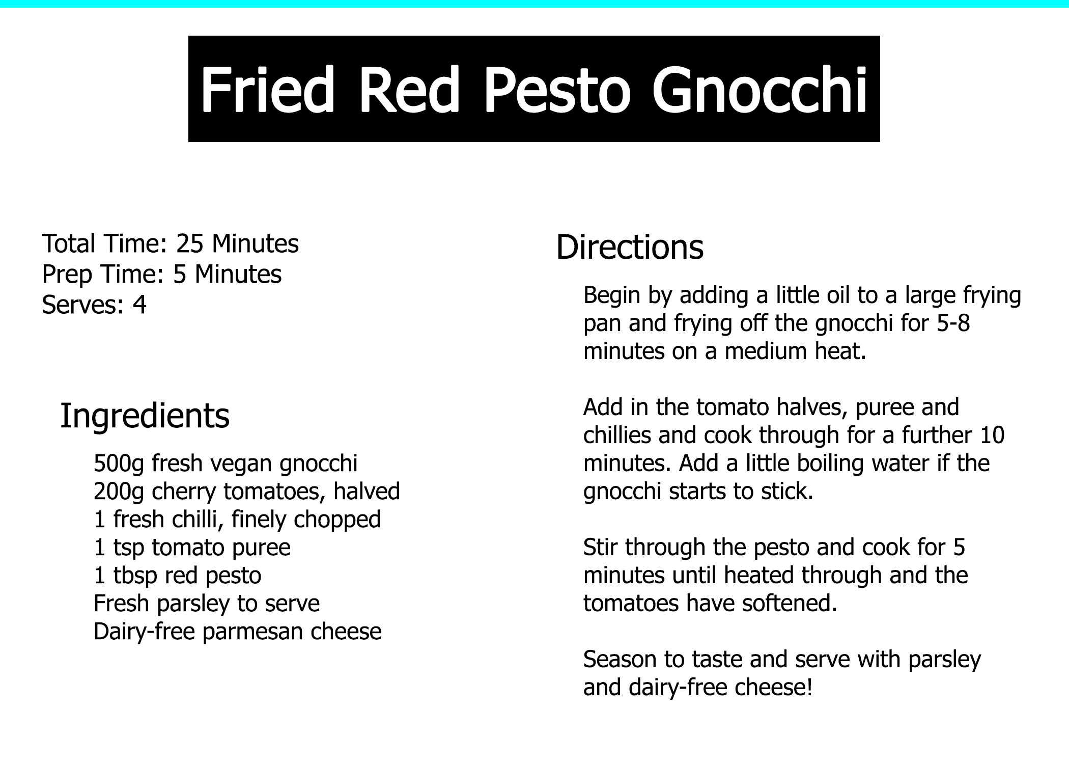 recipe fried red pesto gnocchi