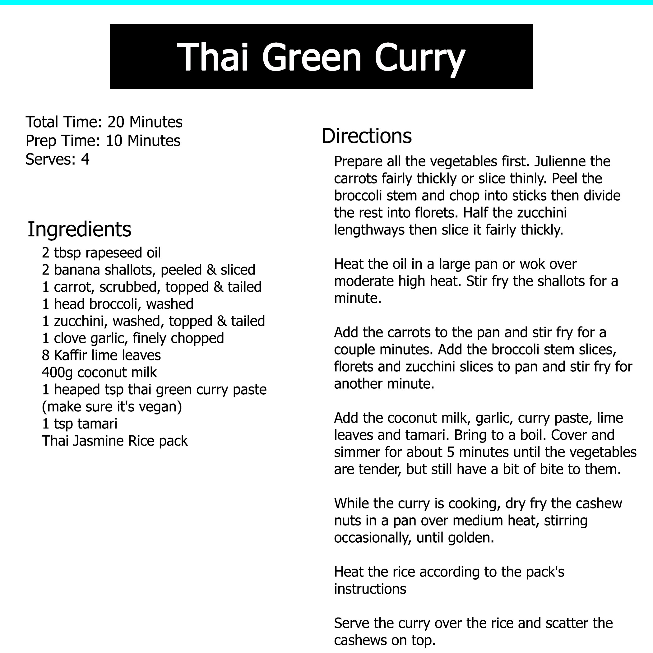 recipe thai red curry