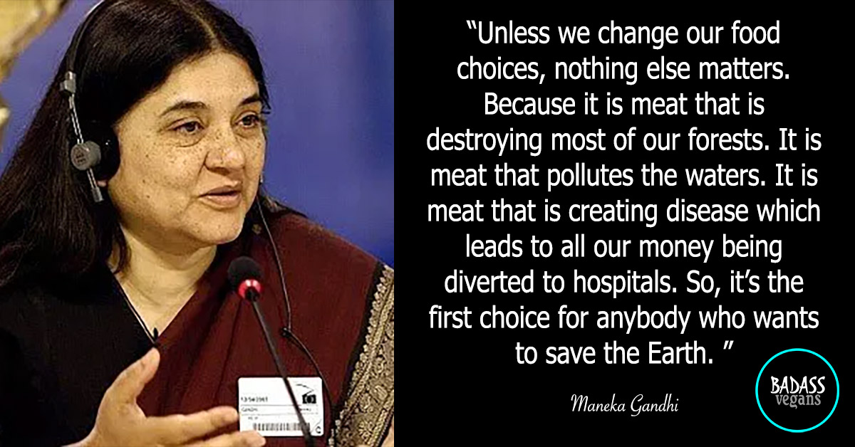 Maneka Gandhi is a badass vegan.