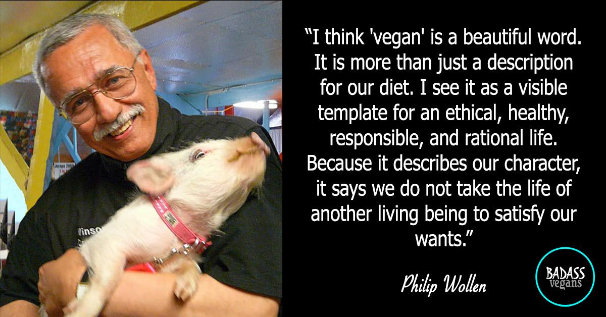 Phlip Wollen is a badass vegan